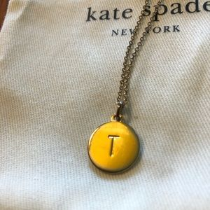 Kate Spade ♠️ T monogram necklace
